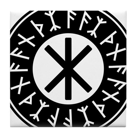 odal rune viking thor symbol coasters cafepress Alu Shcematic Symbol odin s protection no 1 2c tile coaster