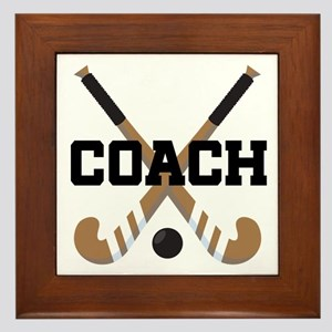 Field Hockey Coach Gift Framed Tile