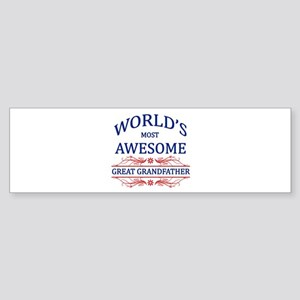 World's Most Awesome Great Grandfather Sticker (Bu
