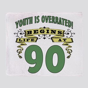 Life Begins At 90 Throw Blanket