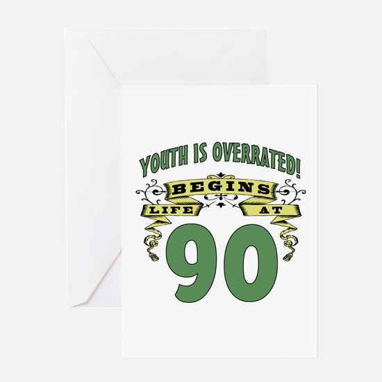 Life Begins At 90 Greeting Card