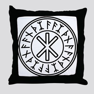 Odin's Protection No.2_2c Throw Pillow