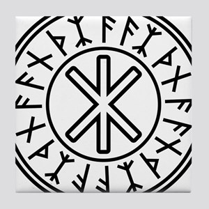 Odin's Protection No.2_2c Tile Coaster