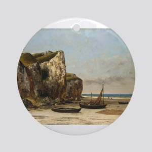 Gustave Courbet - Beach in Normandy Ornament (Roun