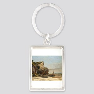 Gustave Courbet - Beach in Normandy Keychains