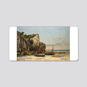Gustave Courbet - Beach in Normandy Aluminum Licen