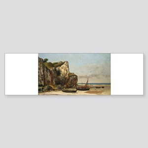 Gustave Courbet - Beach in Normandy Bumper Sticker