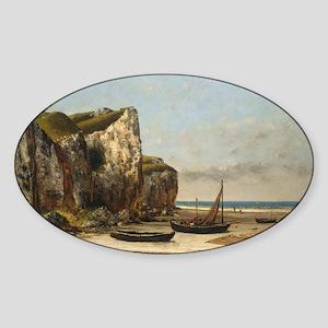 Gustave Courbet - Beach in Normandy Sticker