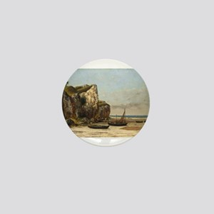 Gustave Courbet - Beach in Normandy Mini Button