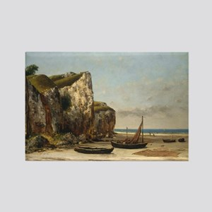 Gustave Courbet - Beach in Normandy Rectangle Magn