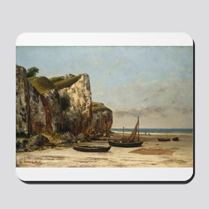Gustave Courbet - Beach in Normandy Mousepad