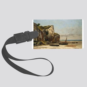 Gustave Courbet - Beach in Normandy Luggage Tag