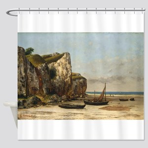 Gustave Courbet - Beach in Normandy Shower Curtain