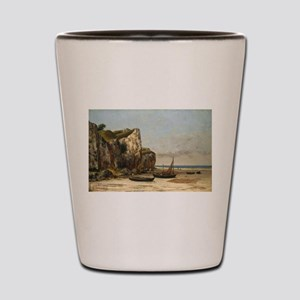 Gustave Courbet - Beach in Normandy Shot Glass