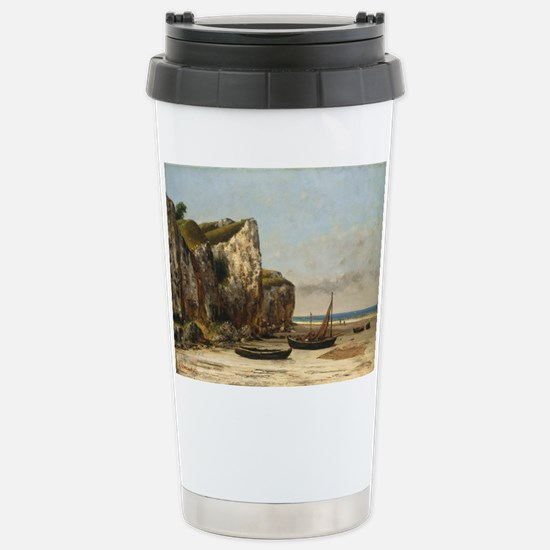 Gustave Courbet - Beach in Normandy Travel Mug