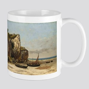 Gustave Courbet - Beach in Normandy Mug