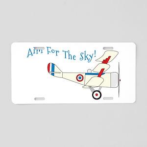 Aim For The Sky! Aluminum License Plate