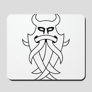 Odin's Mask Tribal (Outline) Mousepad