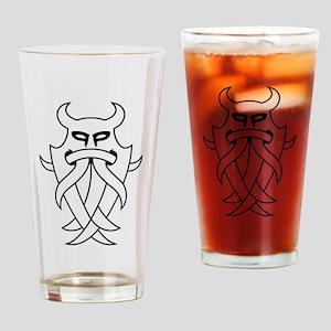 Odin's Mask Tribal (Outline) Drinking Glass