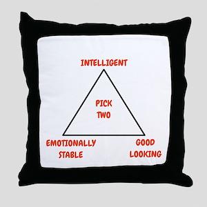 Pick Two Throw Pillow
