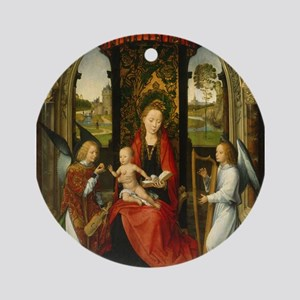 Hans Memling - Madonna and Child with Angels Ornam