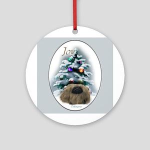 Pekingese Christmas Ornament (Round)