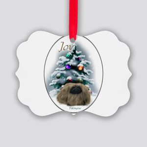 Pekingese Christmas Picture Ornament