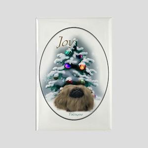 Pekingese Christmas Rectangle Magnet (10 pack)