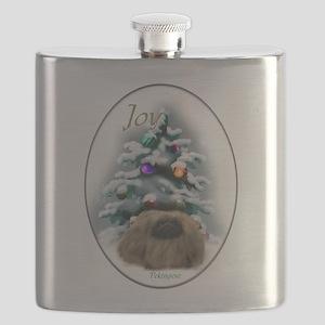 Pekingese Christmas Flask