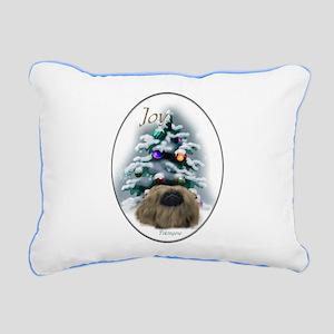Pekingese Christmas Rectangular Canvas Pillow