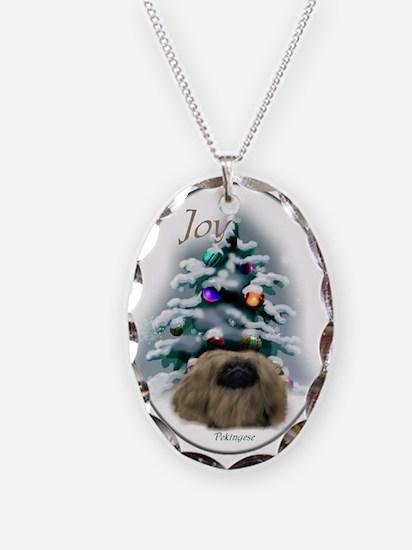 Pekingese Christmas Necklace