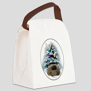 Pekingese Christmas Canvas Lunch Bag