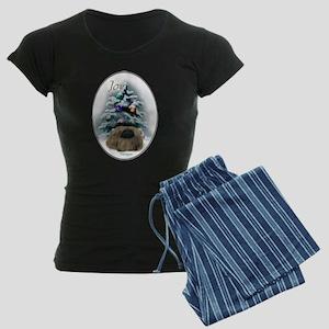 Pekingese Christmas Women's Dark Pajamas