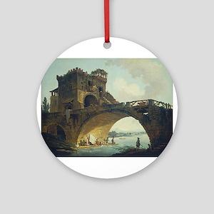 Hubert Robert - The Ponte Salario Ornament (Round)