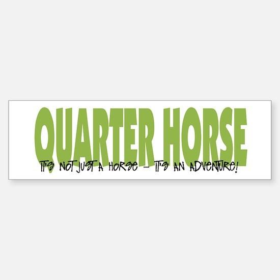 Quarter Horse ADVENTURE Bumper Bumper Bumper Sticker
