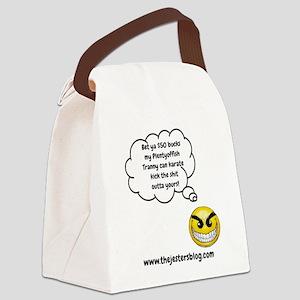 My Plentyoffish Tranny Canvas Lunch Bag