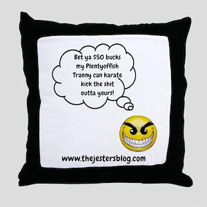 My Plentyoffish Tranny Throw Pillow