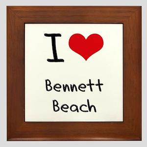 I Love BENNETT BEACH Framed Tile