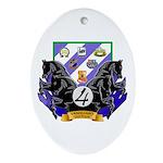 """4th Brigade """"Vanguard"""" Oval Ornament"""
