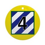4th Brigade Patch Ornament (Round)