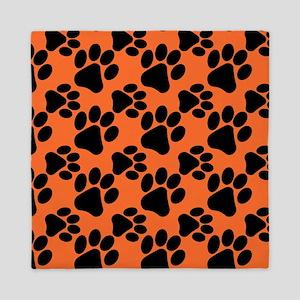 Dog Paws Clemson Orange Queen Duvet