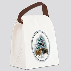 Pomeranian Christmas Canvas Lunch Bag