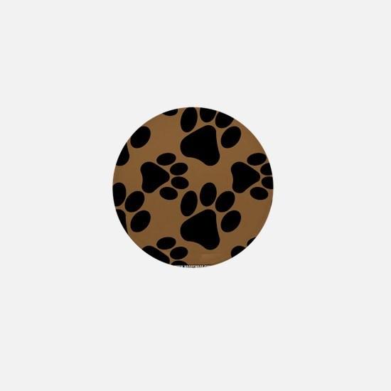 Dog Paws Brown Mini Button
