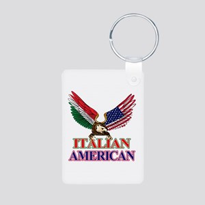 Italian American Aluminum Photo Keychain