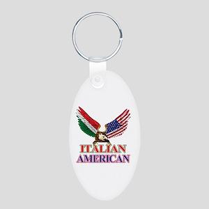 Italian American Aluminum Oval Keychain