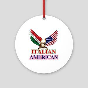 Italian American Ornament (Round)