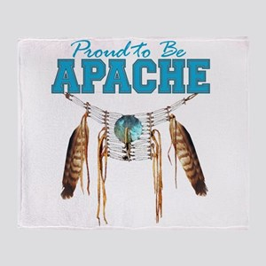 Proud to be Apache Throw Blanket