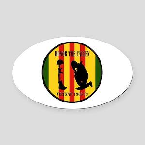 Honor the Fallen Vietnam 1965-73 Oval Car Magnet