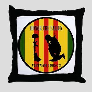 Honor the Fallen Vietnam 1965-73 Throw Pillow