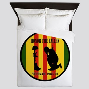Honor the Fallen Vietnam 1965-73 Queen Duvet